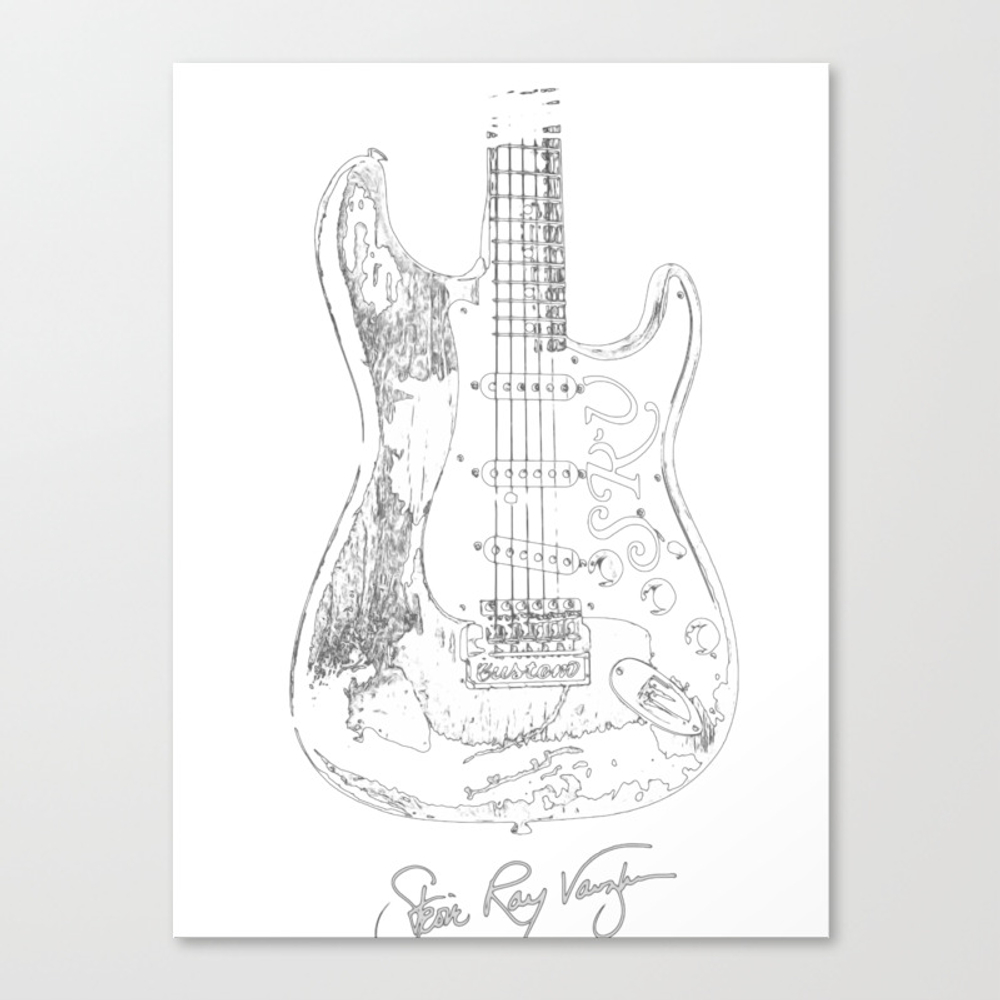 Stevie Ray Vaughan - Guitar-blues-rock-legend Canvas Print by Skydes CNV8904524