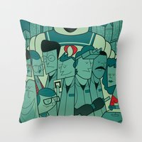 ghostbusters Throw Pillows featuring Ghostbusters by Ale Giorgini