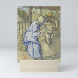 The Sheepshearer (after Millet) Mini Art Print