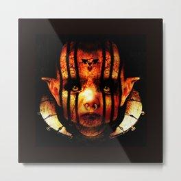 Satanic Alien Baby Metal Print