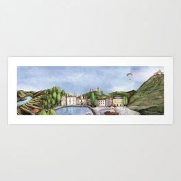Vila Real landscape Art Print