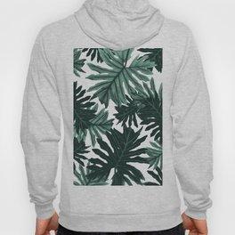 Philo Hope - Tropical Jungle Leaves Pattern #6 #tropical #decor #art #society6 Hoody