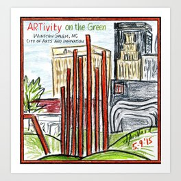 ARTivity on the Green Art Print