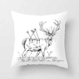 Deerhunting Throw Pillow