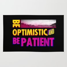 Be optimistic. Be patient. A PSA for stressed creatives Rug