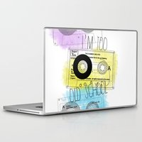 old school Laptop & iPad Skins featuring old school by Sara Eshak