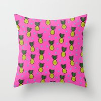 pineapples Throw Pillows featuring Pineapples by Sandra Arduini