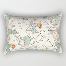 Prickly Pear Cacti and Triangles Rectangular Pillow