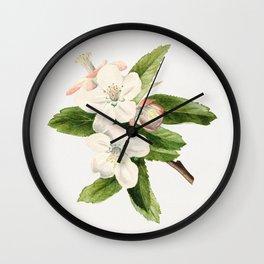 Vintage crab apple flowers Wall Clock