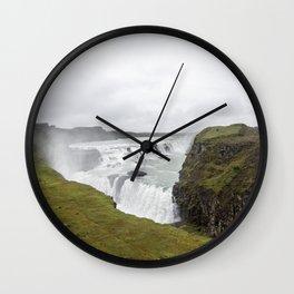 Gullfoss - Landscape Photography Wall Clock