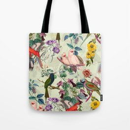 Floral and Birds VIII Tote Bag