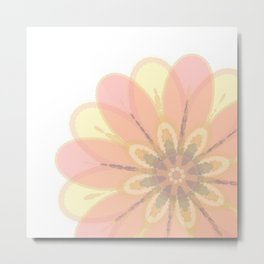Abstract Floral Card Metal Print