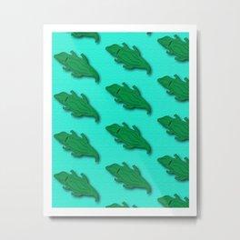 Lazy Gators Metal Print