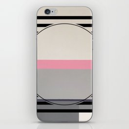 Green line - line graphic iPhone Skin
