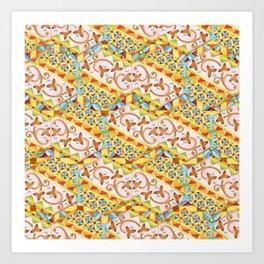 Pink Bonbon Hexagons Art Print