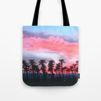 coachella Tote Bags featuring Coachella Sunset by The Bun