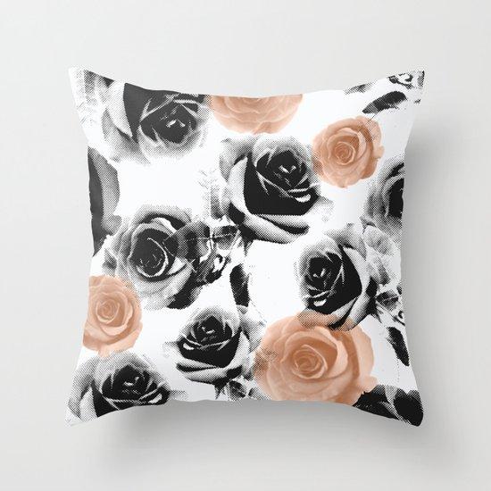 pixel rose Throw Pillow