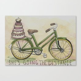 She's Going the Distance Canvas Print