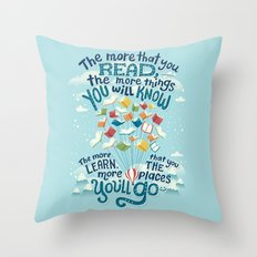 Go places Throw Pillow