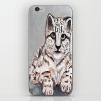 snow leopard iPhone & iPod Skins featuring Snow Leopard by RakMeowww