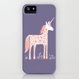 Unicorn with Flowers iPhone Case