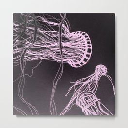 Jelly Swim Metal Print