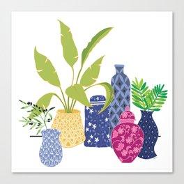 Chinoiserie Vases Canvas Print