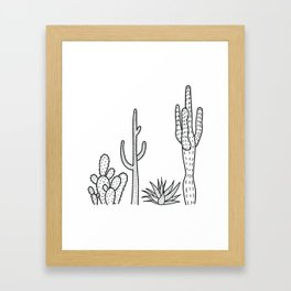 Cactus illustration Framed Art Print