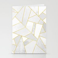jon snow Stationery Cards featuring White Stone by Elisabeth Fredriksson