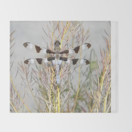 dragonfly tank Throw Blanket