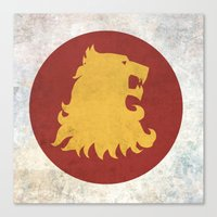 lannister Canvas Prints featuring Lannister Flag (Game of Thrones) by Goat Robot