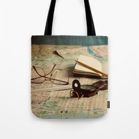 maps Tote Bags featuring Maps by Sciuridae