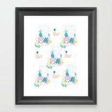 Fruiti tutti. Fruit, illustration, pattern, print, pineapple,  Framed Art Print