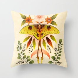 Moth Wings IV Throw Pillow