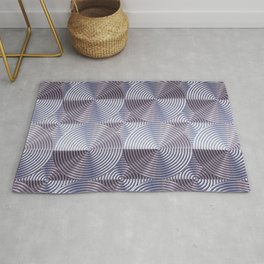 Shiny silver metal embossed surface Rug