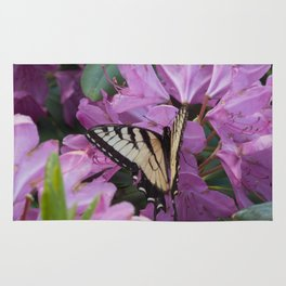 Monarch on Rhododendron Rug