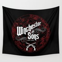 winchester Wall Tapestries featuring Winchester & Sons by Manny Peters Art & Design