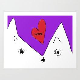Love Cat -- Art by Child Art Print