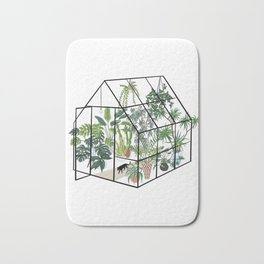 greenhouse with plants Bath Mat