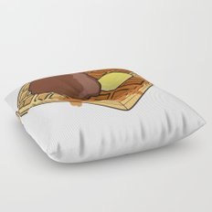 Waffle Time is Anytime. Floor Pillow