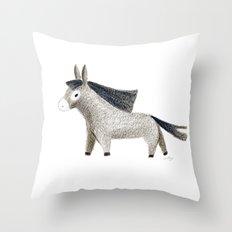 Little Donkey Throw Pillow