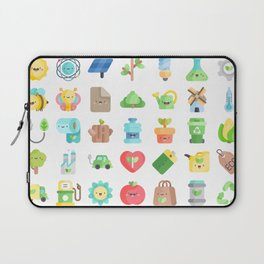 CUTE GREEN / ECO / RECYCLE PATTERN Laptop Sleeve