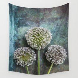 Three Allium Flowers Wall Tapestry