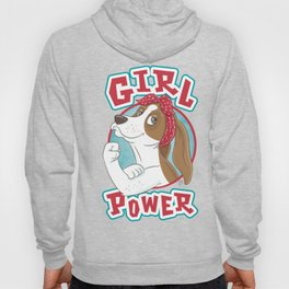 Basset Hound Girl Power Hoody
