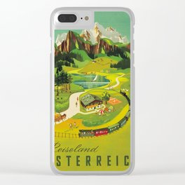 Vintage poster - Austria Clear iPhone Case