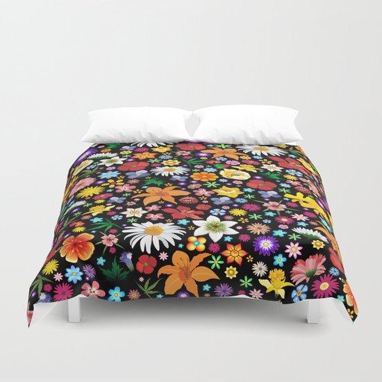Spring Flowers Pattern Duvet Cover