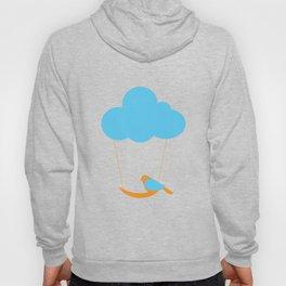 Cute bird and cloud Hoody