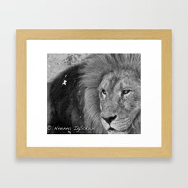 Beast asleep Framed Art Print