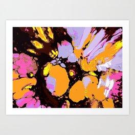 Enamel orange Art Print