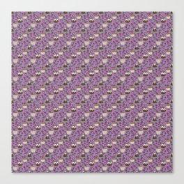 Figgy Plum Pudding Christmas Dessert Purple Repeat Canvas Print